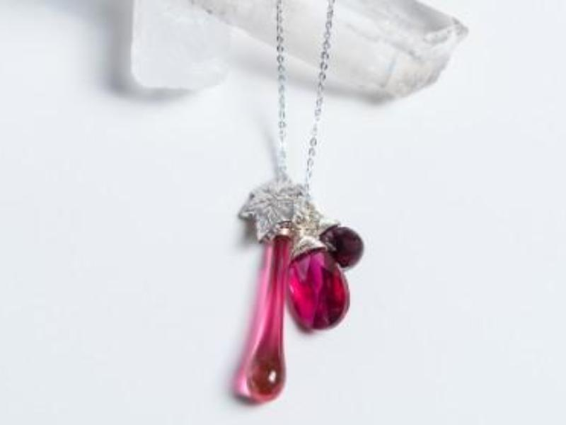 Raindrop Necklaces // Hand Blown Glass + Italian Silver