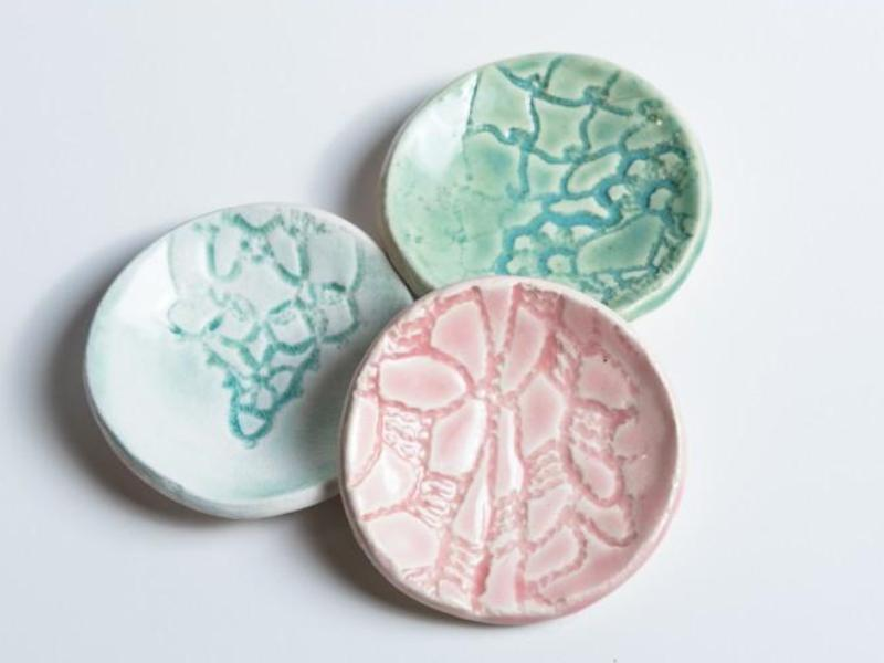 Ceramic Mini Dishes // Lace