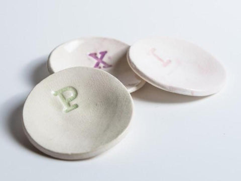 Ceramic Mini Dishes // Monogrammed