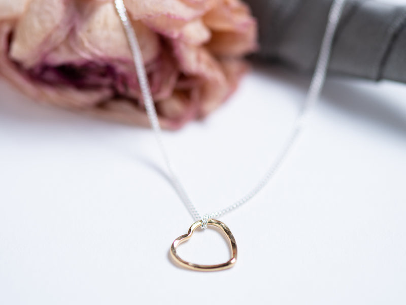 Floating Gold Fill Heart // Pendant