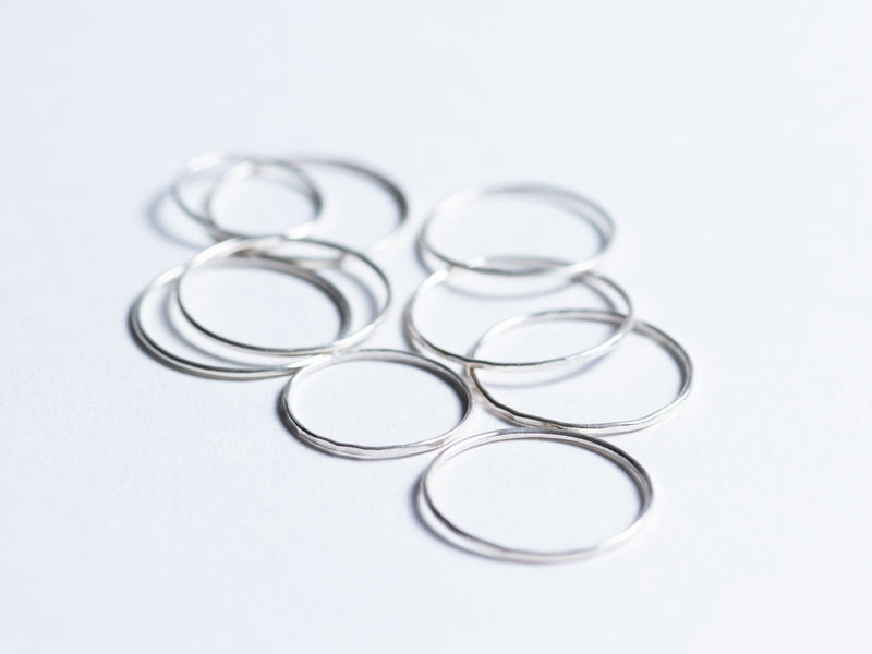 Stacking Rings // Silver Hammered