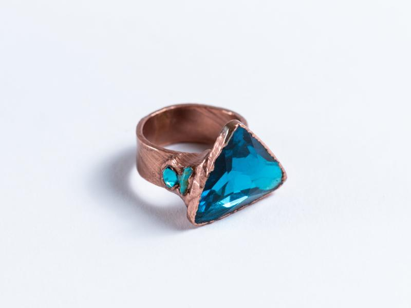 Electroformed // Swarovski Crystal Ring