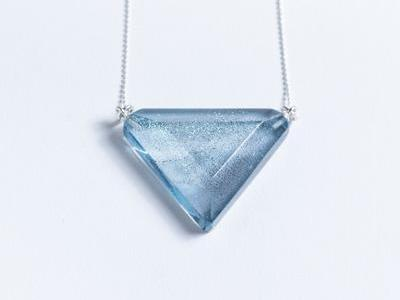 Vertex // Glass Triangle Necklaces
