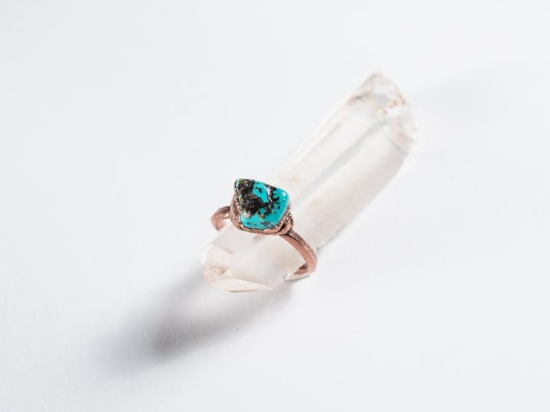 Electroformed // Real Turquoise Ring