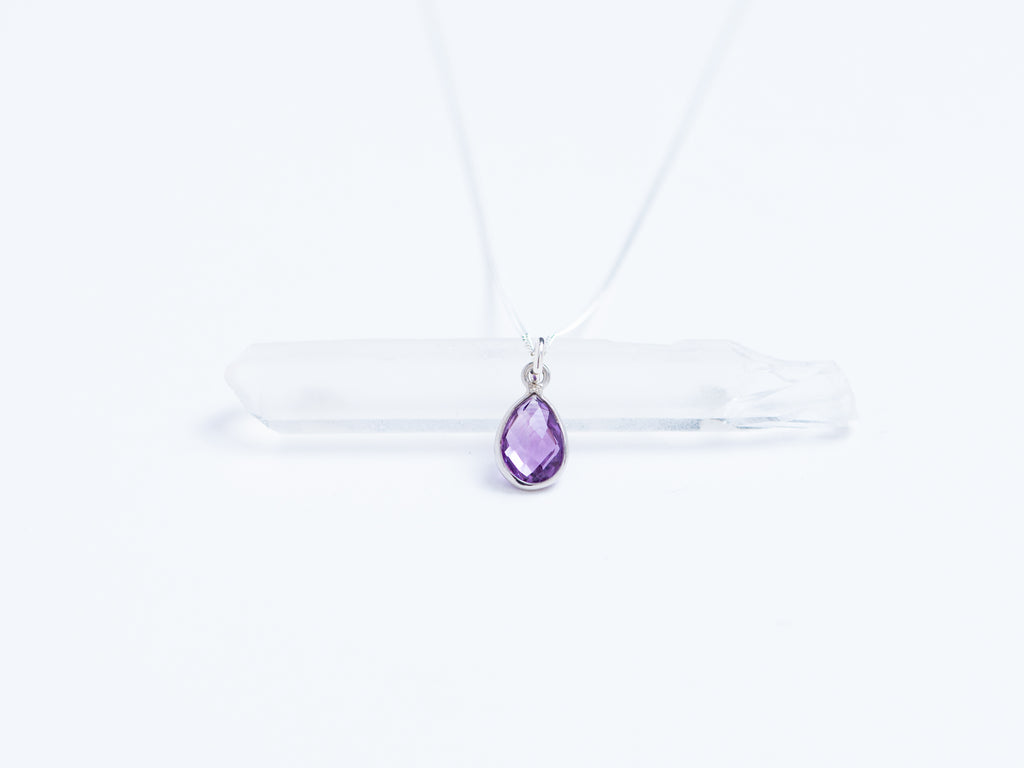 Gem Teardrop Pendant // Necklace