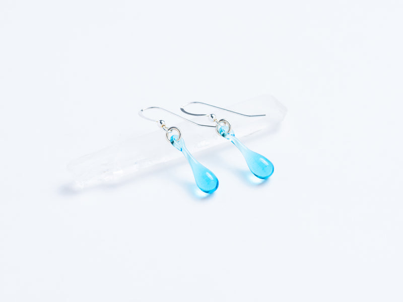 Tear Drop Earrings // Blown Glass
