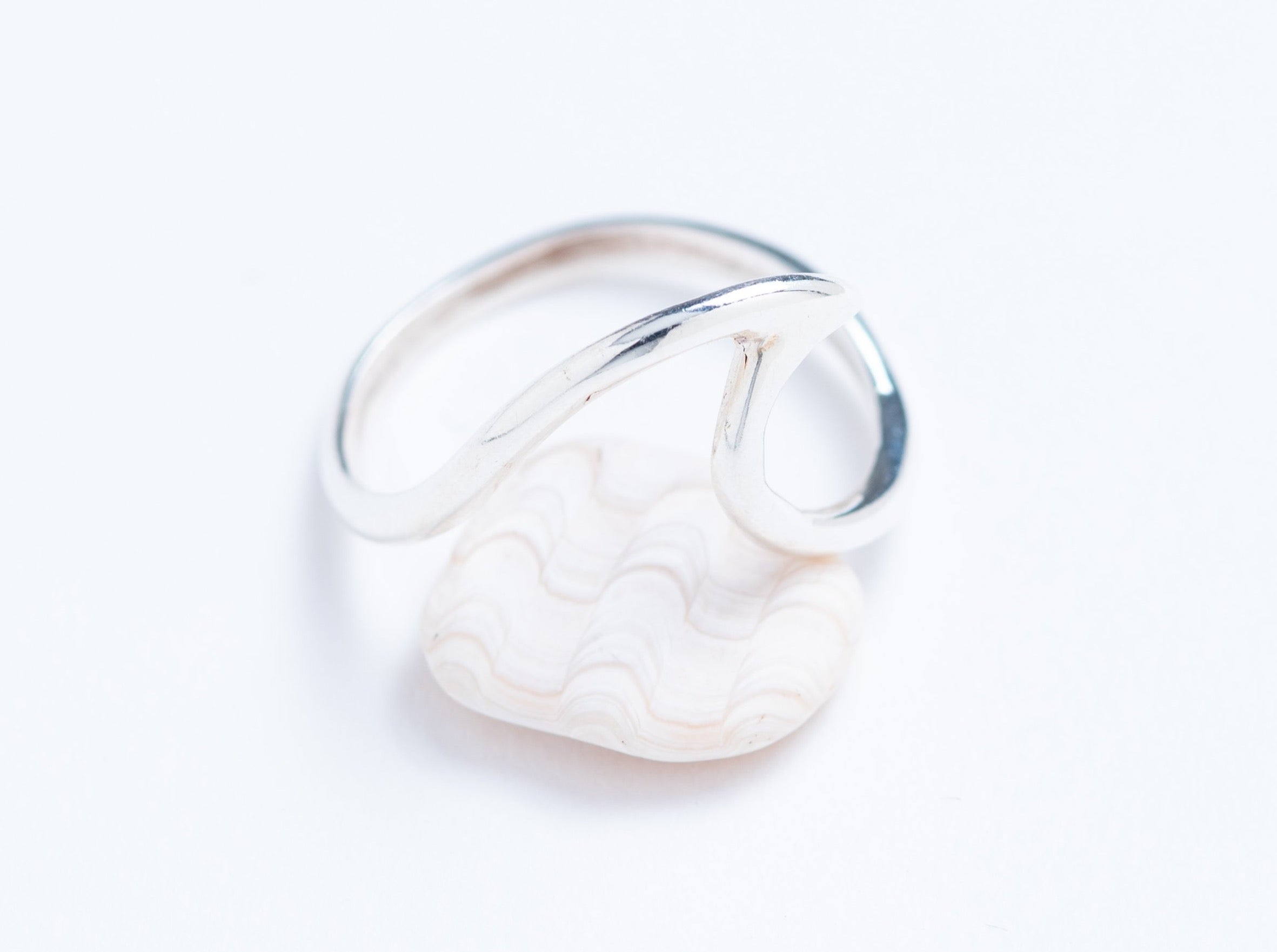 Sterling Silver Wave Stacker