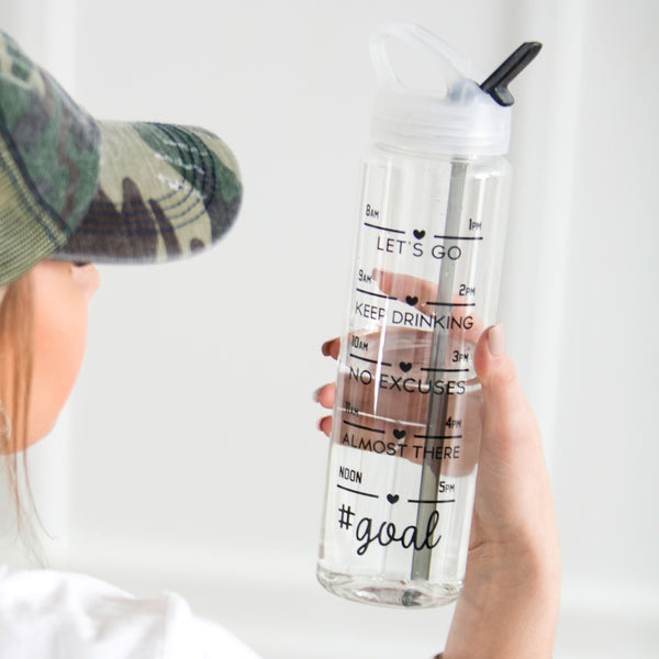 #Goal Tracker Water Bottle