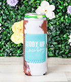 Giddy Up Slim Can Cooler
