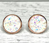 Sparkle Druzy Earrings 12mm