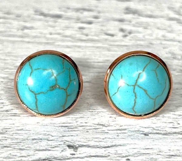 Faux Turquoise Earrings
