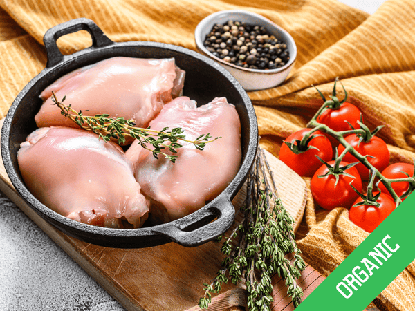 Organic Chicken Thigh Filets, Boneless & Skinless, Free Range