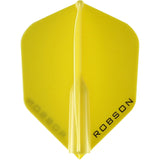 Robson Plus Dart Flights - Shape Yellow
