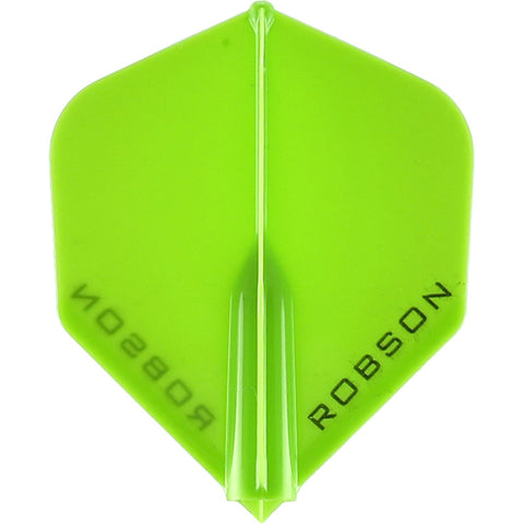 ROBSON PLUS DART FLIGHTS - STANDARD LIME