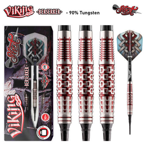 SHOT VIKING BERSERKER SOFT TIP DARTS - CENTER WEIGHTED 18GM