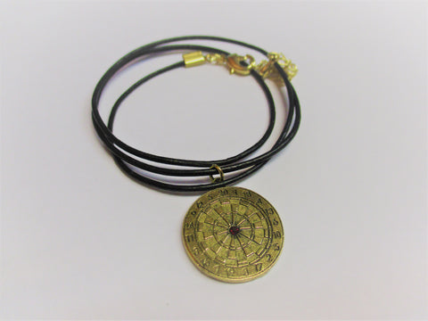 Dartboard Necklace - Gold Colored