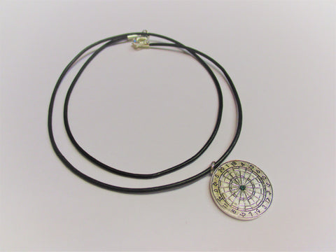 Dartboard Necklace - Silver Colored