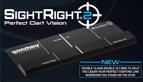 Winmau SightRight 2 - Perfect Dart Vision - Sighting Aid for Perfecting Oche Postion