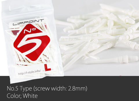 L-Style No. 5 Lippoint Tips - White