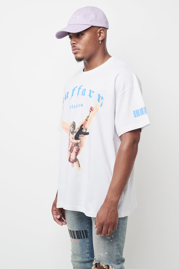 Freedom Angel Heavy Cotton Tee White
