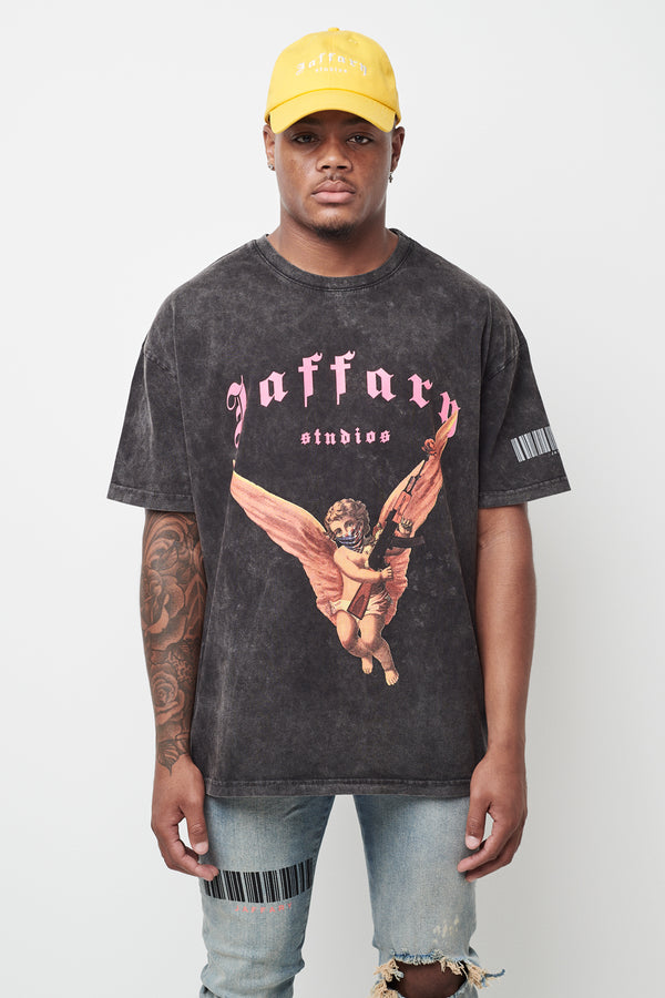 Freedom Angel Washed Heavy Cotton Tee V3