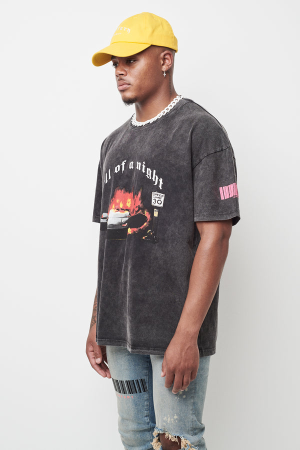 Hell Of A Night Washed Heavy Cotton Tee