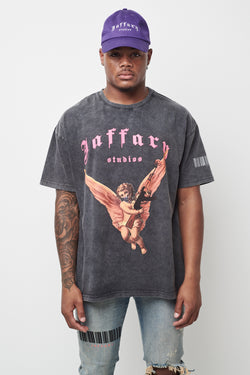 Freedom Angel Washed Heavy Cotton Tee V4