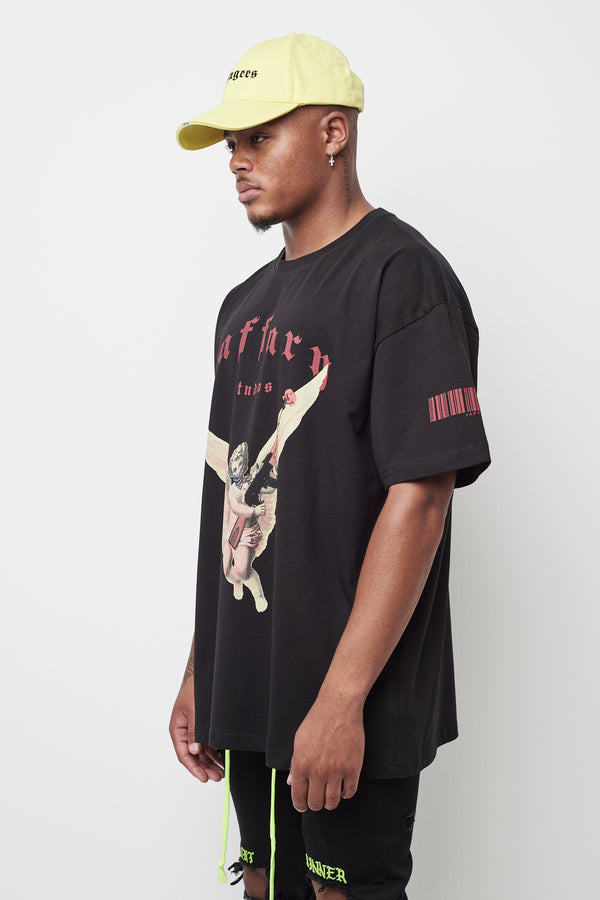 Freedom Angel Heavy Cotton Tee Black