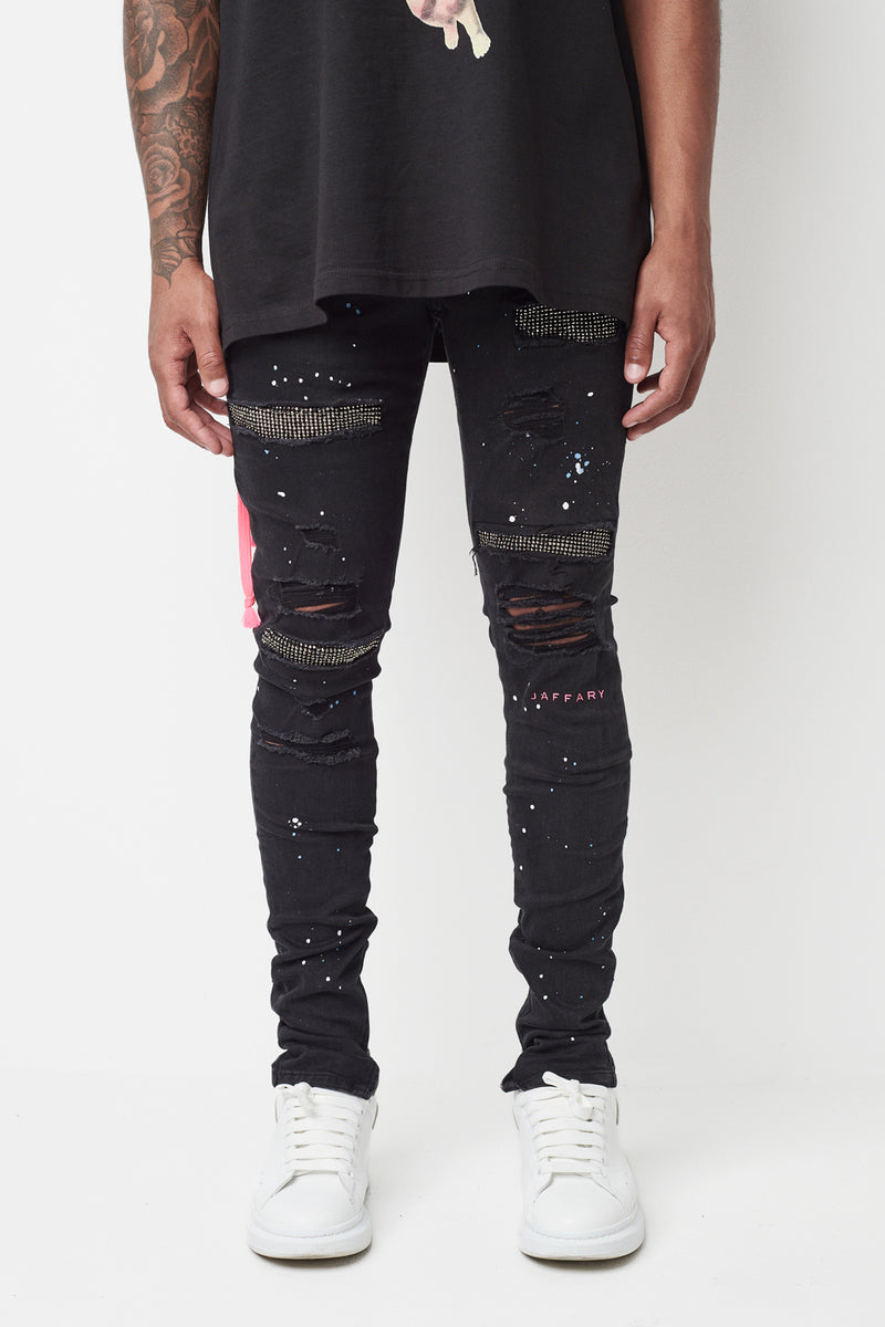 Galaxy Diamond Paint Splash Jeans