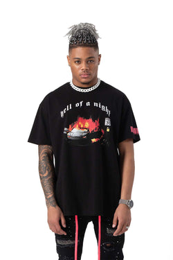 Hell Of A Night Heavy Cotton Tee