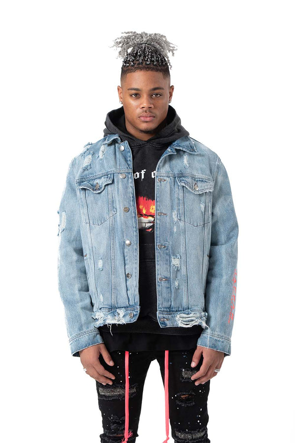 Supermoon Shearling Denim Jacket (DETACHABLE)