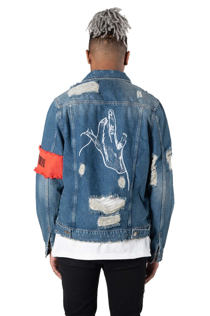 Blue Trucker Jacket F.I.P.