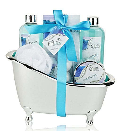 Spa Gift Basket with Refreshing Ocean Bliss Fragrance - Best Wedding Birthday Anniversary or Graduation Gift for Women -Bath Gift Set Includes Shower Gel ...  sc 1 st  Giftsational & Spa Gift Basket with Refreshing Ocean Bliss Fragrance - Best Wedding ...