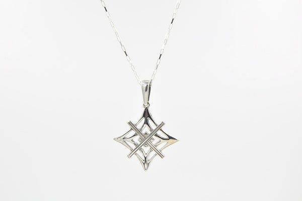Signature Necklace Polished Silver  - Large Symbol