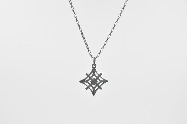 Signature Necklace Oxidized  - Medium Symbol