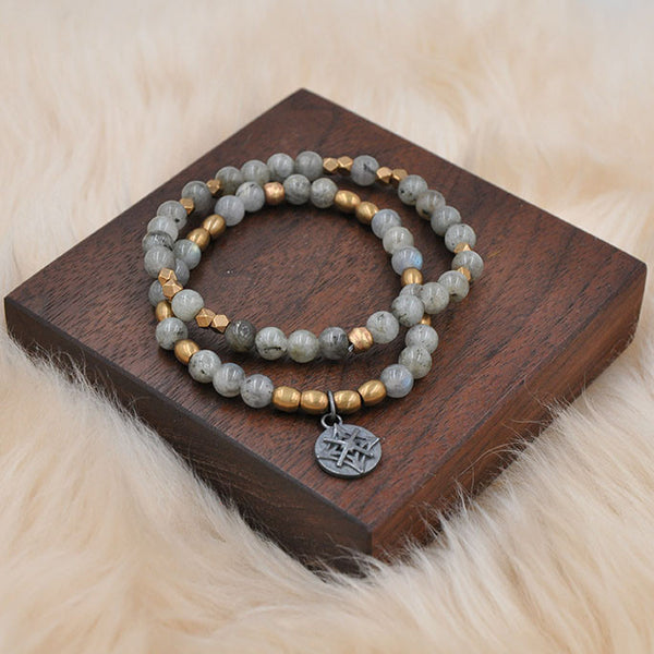 Labradorite Stretch Bracelet Set