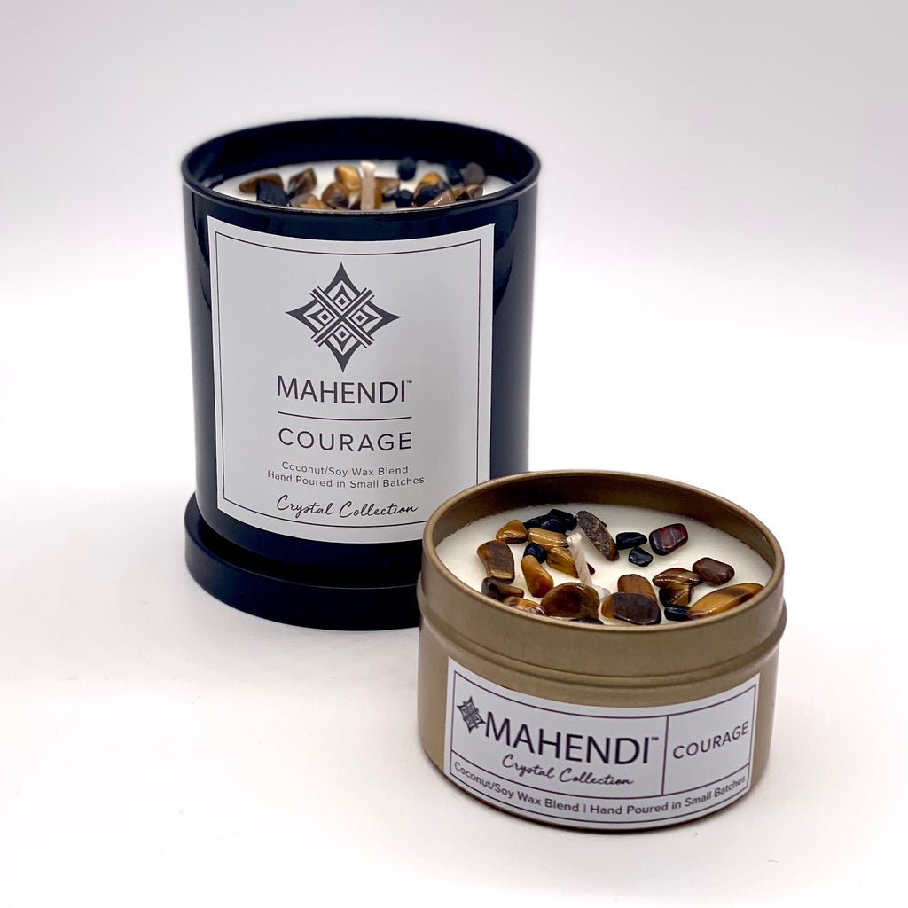 Courage Crystal Infused Candle