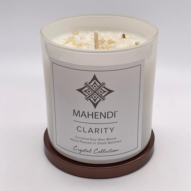 Clarity & Citrine Crystal Infused Candle 1