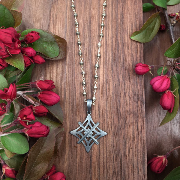 Pyrite Rosary Necklace