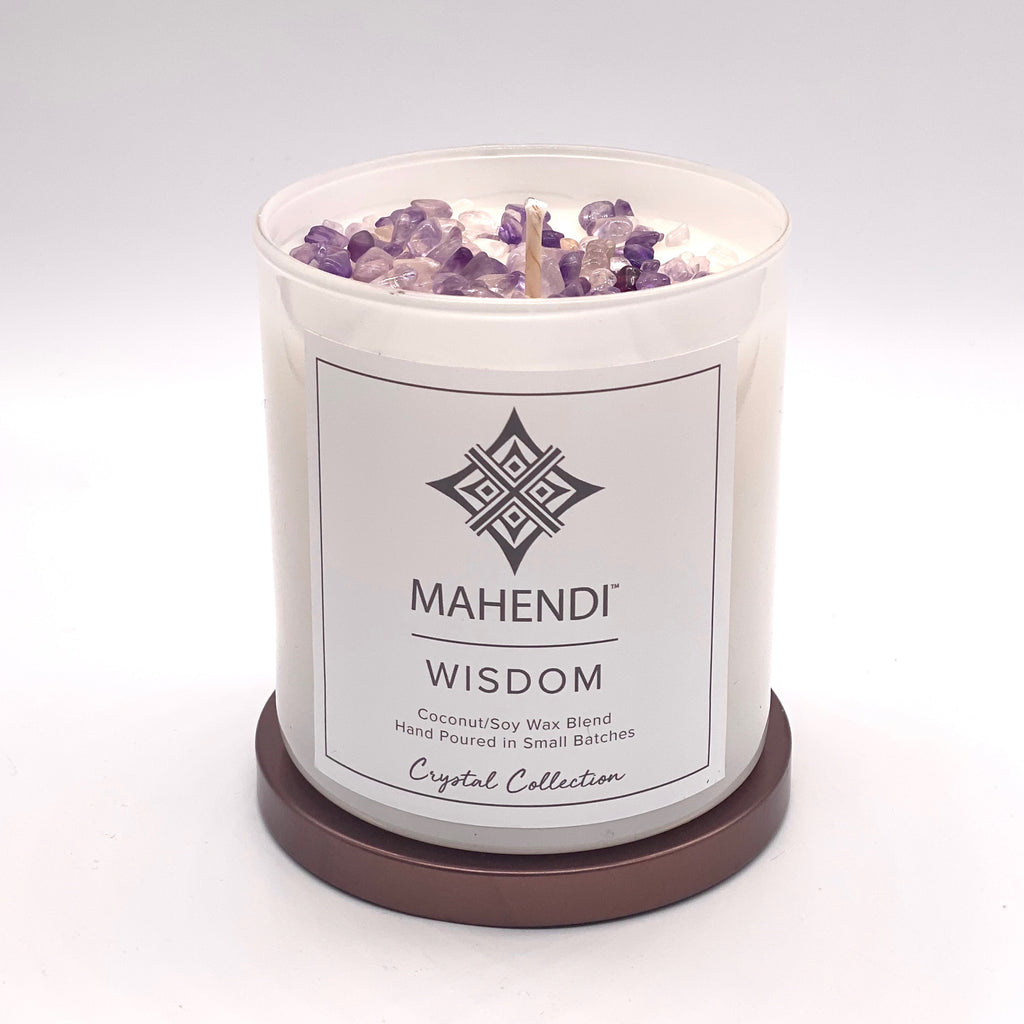Wisdom Crystal Infused Candle