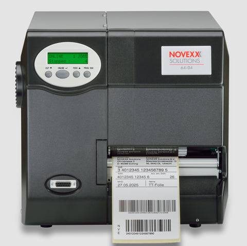 Novexx 64-04 Barcode Printer Manual Dispensing Edge A8209
