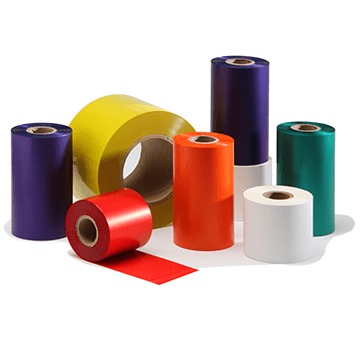 IIMAK FAD102J3, DC-200 Wax/Resin, 24 Rolls, 4.02 in x 2001 ft, APS PI 4000, Orange Thermal Ribbon - GoZob.com
