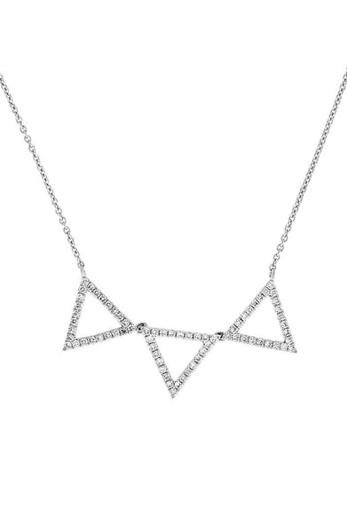 Bony Levy - Triangle Pendant Necklace-allforher.com