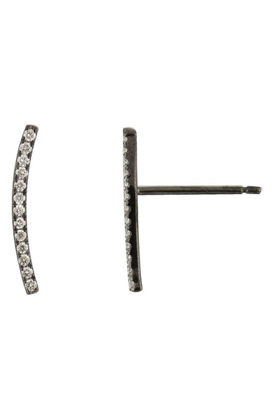 Bony Levy - Curved Bar Earrings-allforher.com