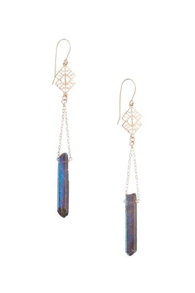 Heather Gardner -  Mystique Crystal Earrings-allforher.com