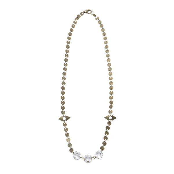 Jill Golden Jewels -Reflection Crystal Necklace-allforher.com
