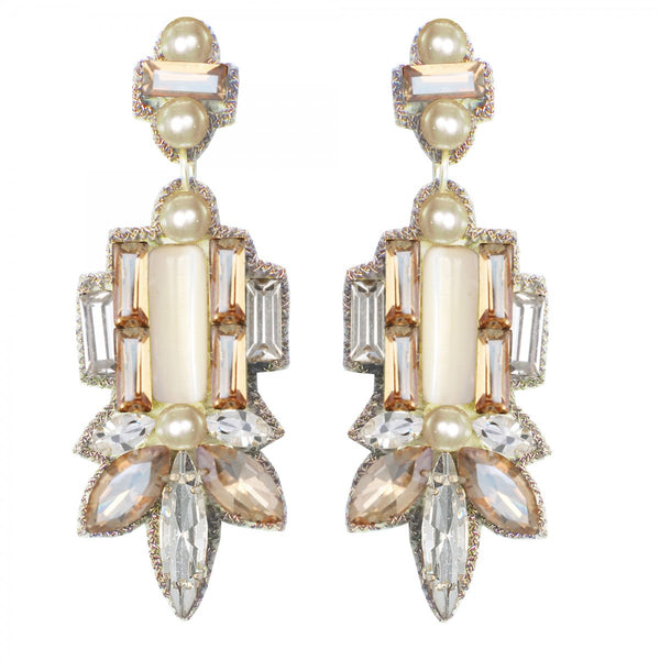Suzanna Dai -Avellino Drop Earrings-allforher.com
