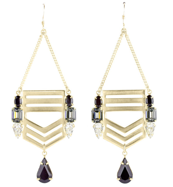 Jene DeSpain - Legacy Chevron Earrings-allforher.com