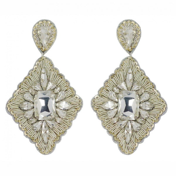 Suzanna Dai - Vicenza Large Drop Earrings-allforher.com
