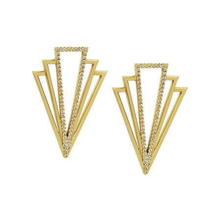Lisa Freede - Large Tatum Earrings in Yellow Gold-allforher.com